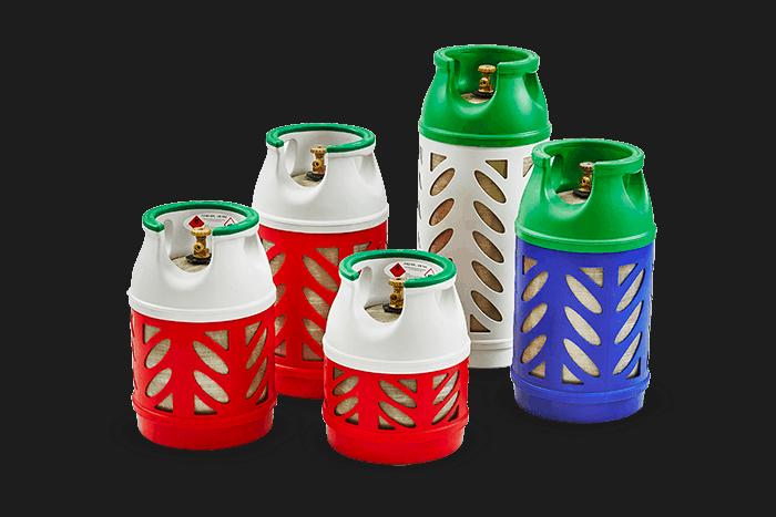 Bombola gas vetroresina della Beyfin in diversi formati