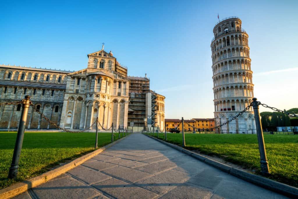 Pisa on the road toscana